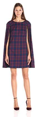 Trina Turk Women's Gizela Modern Tartan Plaid Cape Dress $83.65 thestylecure.com
