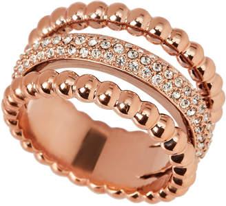 Swarovski Rose Gold-Tone Click Ring Size 7.25