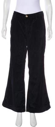 Tory Burch High-Rise Velvet Pants