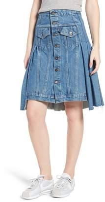 Levi's Type III Pleated Denim Skirt