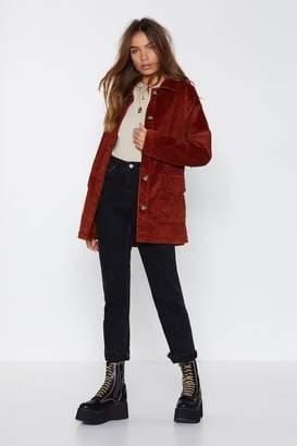 Nasty Gal My New Favorite Corduroy Belted Jacket