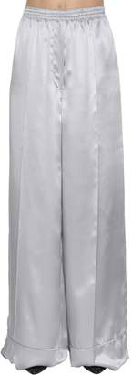 Nina Ricci Silk Satin Wide Leg Pants