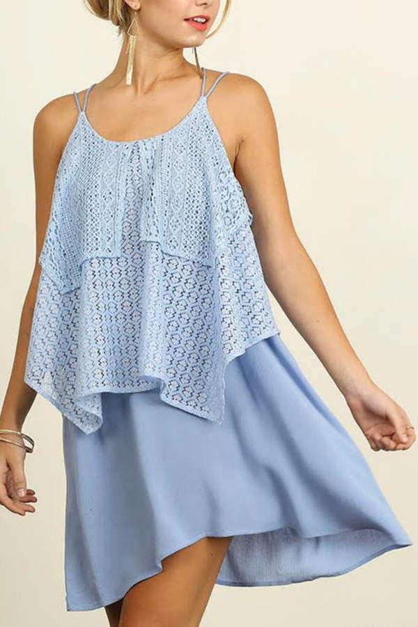 Umgee USA Sleeveless Lace Dress