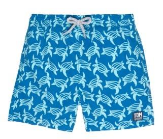 Toddler Boy's Tom & Teddy Turtle Swim Trunks $59.95 thestylecure.com
