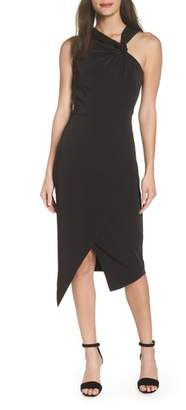 Harlyn Twist Front Asymmetrical Cocktail Dress