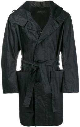 Ann Demeulemeester hooded belted coat