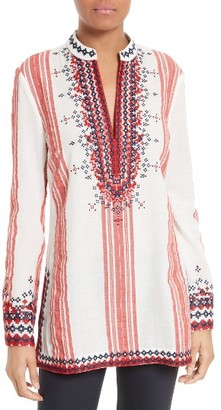 Women's Tory Burch Embroidered Tory Tunic $350 thestylecure.com