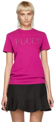 fa5e01f8c703 ... Emilio Pucci Pink Glitter Logo T-Shirt