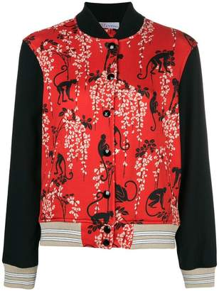 RED Valentino monkey printed bomber jacket