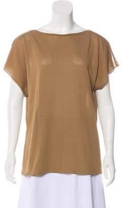 Les Copains Semi-Sheer Short Sleeve Top