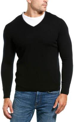 Amicale Cashmere V-Neck Cashmere Sweater