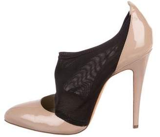 Brian Atwood Patent Leather Pointed-Toe Pumps
