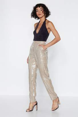 Nasty Gal Better Luck Next Shine Sequin Pants
