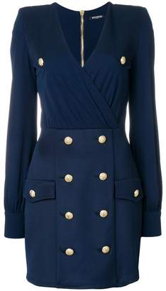 Balmain embellished button dress