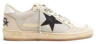 Golden Goose Ballstar Low Top Leather Trainers - Womens - White