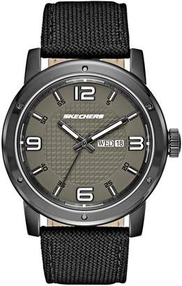 Skechers Men's 'Neutral Canvas Strap' Quartz Metal and Nylon Casual Watch, Color: (Model: SR5087)