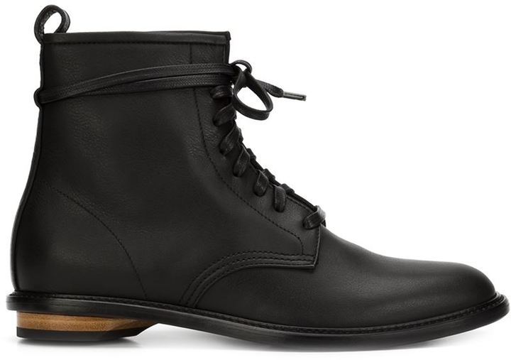 Leather Combat Boots - ShopStyle Australia