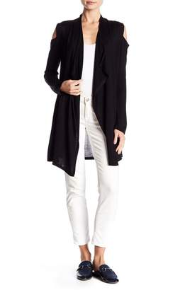Joseph A Cold Shoulder Long Cardigan