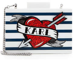 Karl Lagerfeld Captain Box Clutch