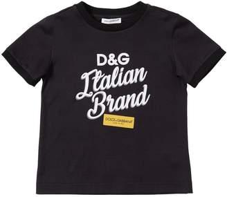 Dolce & Gabbana Print Cotton Jersey T-Shirt