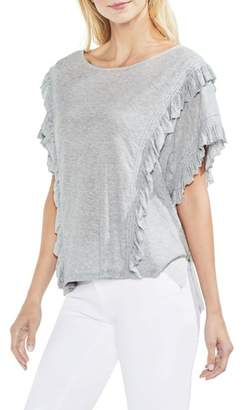Vince Camuto Ruffle Front Top