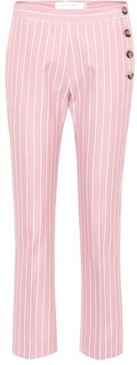 Victoria Victoria Beckham Striped cotton trousers