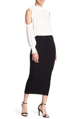 Blvd High Waist Maxi Pencil Skirt
