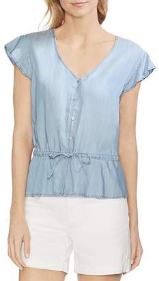 Vince Camuto Cap-Sleeve Chambray Shirt