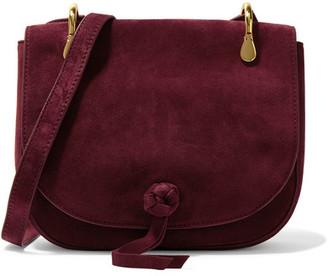 Elizabeth and James - Zoe Suede Shoulder Bag - Claret $395 thestylecure.com