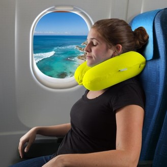 Somerset Home Memory Foam Travel Pillow- With Gel That Cools SH