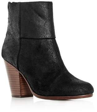 Rag & Bone Women's Classic Newbury Burnished Suede Block-Heel Booties