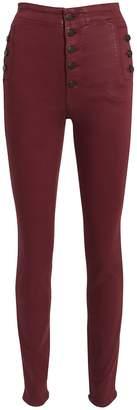 J Brand Natasha Coated Skinny Jeans