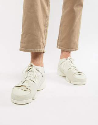 96d7df6923307 Clarks Trigenic Evo trainers in all white leather
