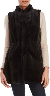 Vince Camuto Solid Faux Fur Vest