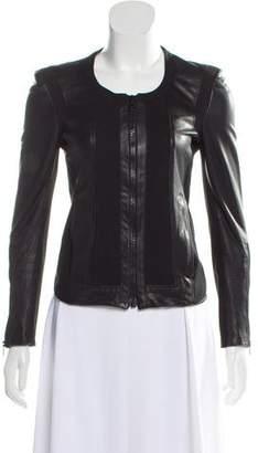 Helmut Lang Collarless Leather Jacket