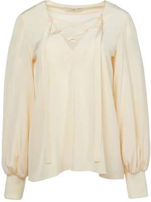 Tibi Silk Tie Front Tunic