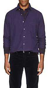 Hartford Men's Cotton Oxford Cloth Shirt - Purple