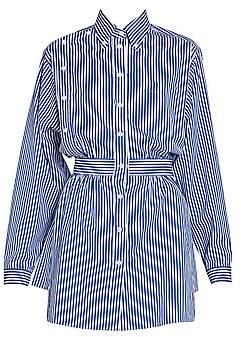 Prada Women's Striped Poplin Oversized Blouse