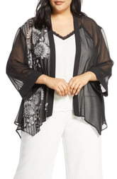 Vince Camuto Ornate Melody Chiffon Jacket