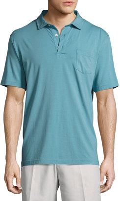 Peter Millar Seaside Jersey Polo Shirt, Blue $52 thestylecure.com