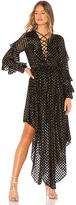 Rococo Sand Hi Low Velvet Dress