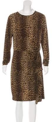 MICHAEL Michael Kors Leopard Print Knee-Length Dress