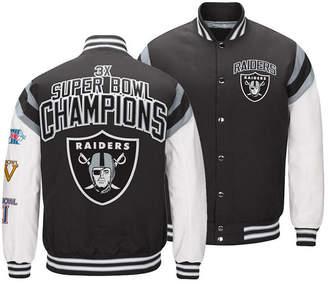 Authentic Nfl Apparel Men Oakland Raiders Home Team Varsity Jacket
