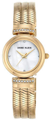 Anne Klein Gold Bracelet Crystal Watch