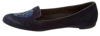 Alexander McQueenAlexander McQueen Suede Sequined Loafers
