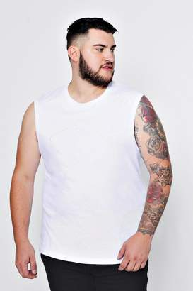 boohoo Big And Tall MAN Embroidered Sleeveless T-Shirt
