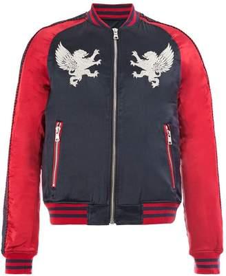 Balmain embroidered details bomber jacket