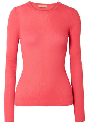 Michael Kors Ribbed Cashmere Sweater - Bubblegum