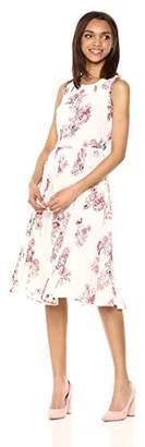 Gabby Skye Women's Flowing Keyhole Dress