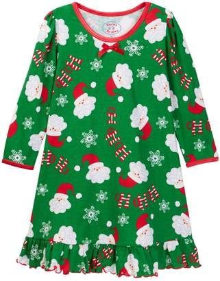 Sara's Prints Printed Puffed Sleeve Nightgown (Baby, Toddler, Little Girls, & Big Girls)